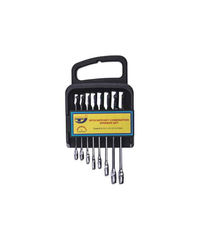 8 PCS RATCHET SPANNER SET  G12SS08