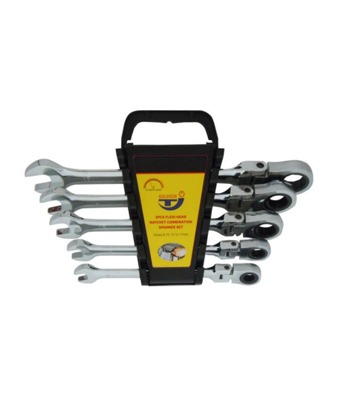 5 PCS FLEXIBLE RATCHET SPANNER SET  G13S05C